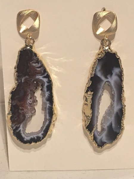 Sugarfoot Jewels - Oco Geode Earrings border=