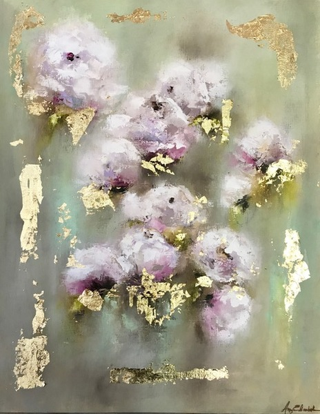 Amy Abig - Lilac Morning - Oil on Canvas Paper - 20x16