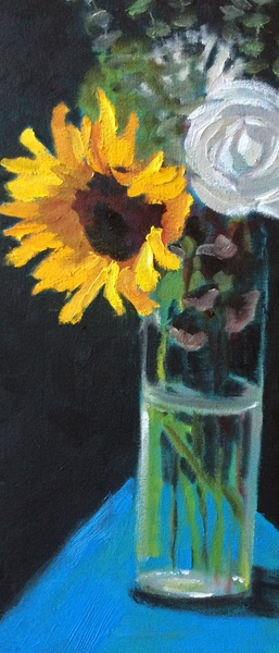 Nancy McClure - Sunflower and Rose border=