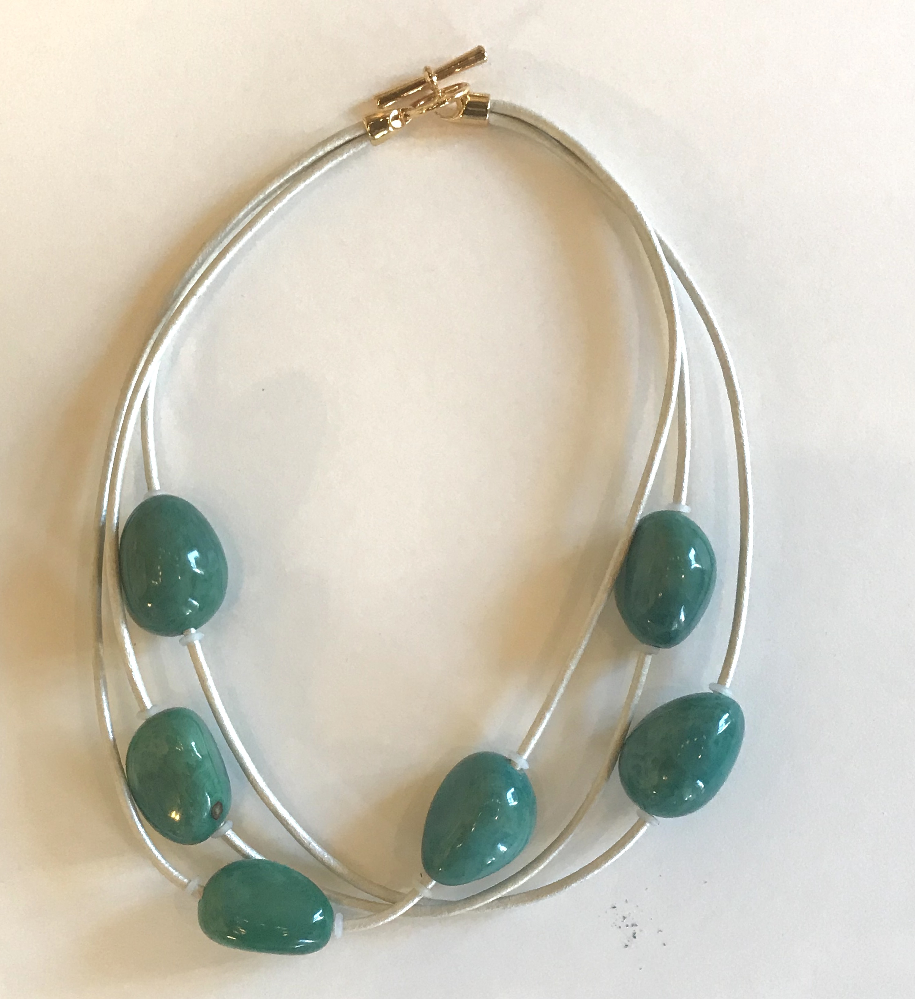 Sugarfoot Jewels - Leather & Tagua Nut Necklace border=