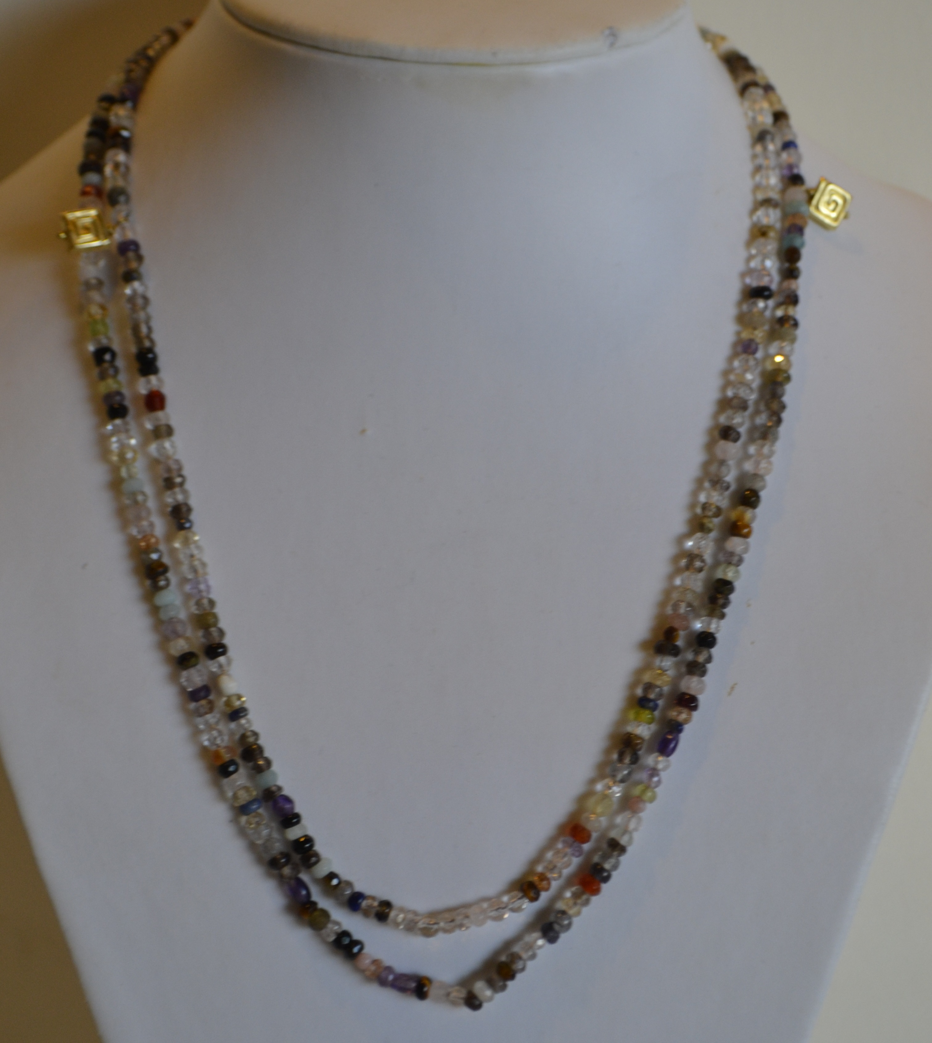Sugarfoot Jewels - Long beaded necklace border=