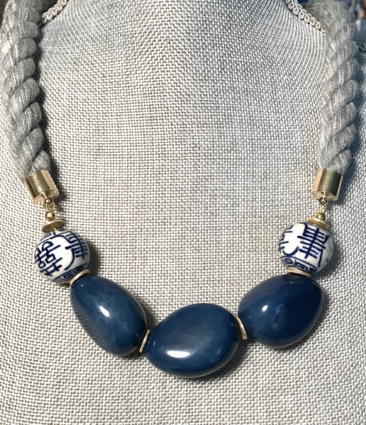 Sugarfoot Jewels - Rope Necklace - Long border=
