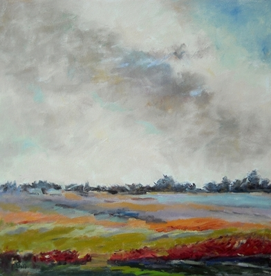 Title: Fields in March , Size: 24x24 , Medium: Oil on Canvas , Price: $1,200
