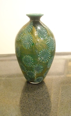 Title: Corral Vase I , Medium: GLASS , Price: $370