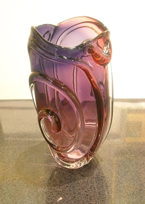 Seattle Glass Studio - String Theory Vase - Purple - GLASS