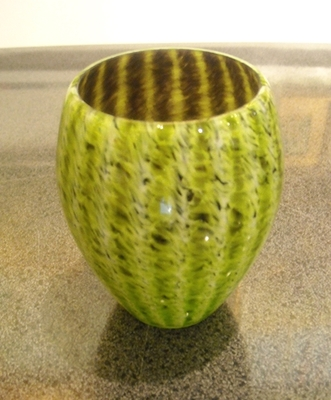 Title: Votive - Lime Green , Medium: GLASS , Price: $87