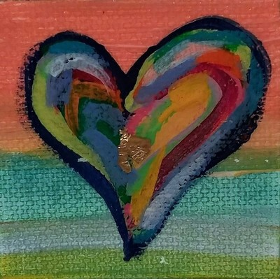 Title: Heart Art 2x2 , Medium: Mixed Media