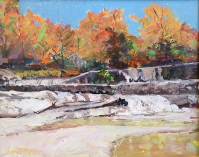Title: The Falls of Lassiter , Size: 16x20 , Medium: Acrylic on Canvas , Price: $450