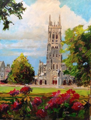Title: Duke Chapel , Size: 24x18 , Medium: Acrylic on Canvas , Price: $750