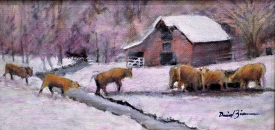 Title: Up on Cripple Creek , Size: 6x12 , Medium: Oil on Linen , Price: $400