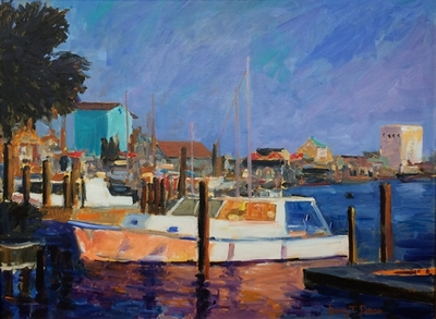 Title: The Light Wanes in Southport , Size: 18x24 , Medium: Oil on Canvas , Price: $850