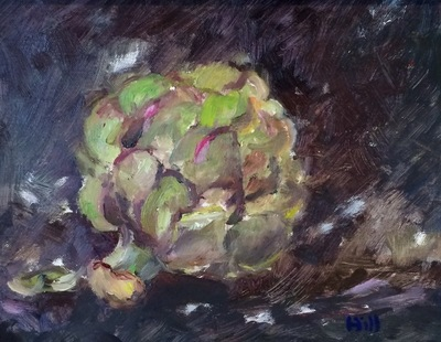 Title: Artichoke , Size: 8x10 , Medium: Oil on Board , Price: $325