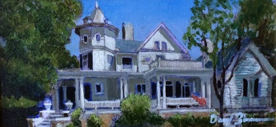 Title: More Than a House , Size: 6x12 , Medium: Oil on Linen , Price: $400