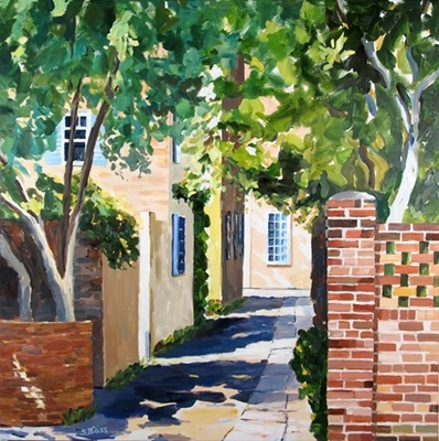 Title: Longitude Lane, Charleston, SC , Size: 36x36 , Medium: Oil on Canvas , Price: $2,200