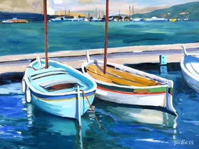 Title: Cassis Harbor at Dusk, Cassis, France , Size: 18x24 , Medium: Oil on Canvas , Price: $975