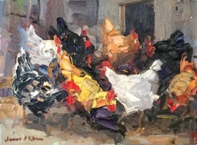 Title: Chicken Dance , Size: 12x16 , Medium: Oil on Canvas