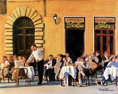 Title: La Dolce Vita , Size: 24x30 , Medium: Oil on Canvas , Price: $1,300