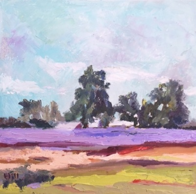 Title: Summer Field , Size: 12x12 , Medium: Oil on Canvas , Price: $350
