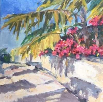 Title:  Island Scene , Size: 12x12 , Medium: Oil on Canvas , Price: $350
