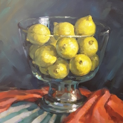 Title: Lemons , Size: 12x12 , Medium: Oil on Canvas , Price: $350