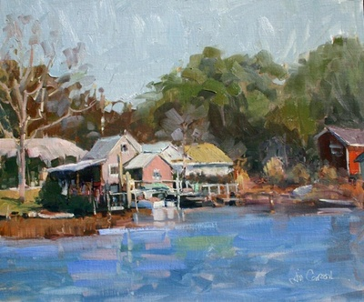 Title: Beaufort from the Water , Size: 20x24 , Medium: Oil on Linen , Price: $1,500