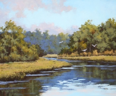 Title: Low Country Marsh , Size: 20x24 , Medium: Oil on Canvas , Price: $1,575