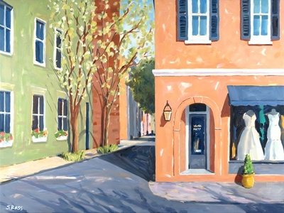 Title: Fabulous Frocks, Charleston, SC , Size: 30x40 , Medium: Oil on Canvas , Price: $2,000