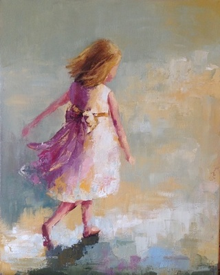 Title: Easter Dress , Size: 30x24 , Medium: Oil on Canvas , Price: $2,500