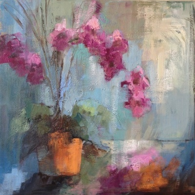 Title: Orchid Pizzaz , Size: 30x30 , Medium: Oil on Canvas , Price: $2,800