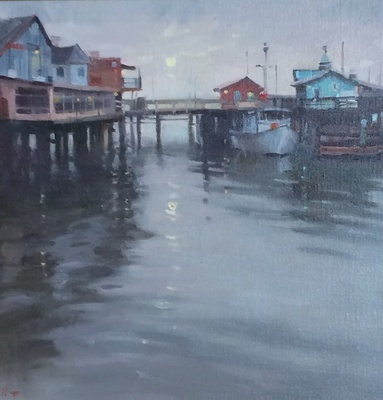 Title: Fisherman's Wharf , Size: 20x20 , Medium: Oil on Canvas , Price: $2,500