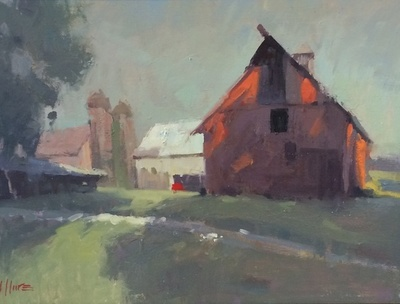 Title: Red Barn , Size: 18x24 , Medium: Oil on Canvas , Price: $2,250