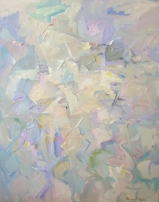 James  P. Kerr - Abstract with Lavendar