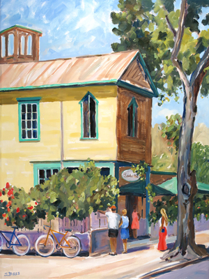 Title: Sarabeth's Restaurant, Key West , Size: 40x30 , Medium: Oil on Canvas , Price: $2,000