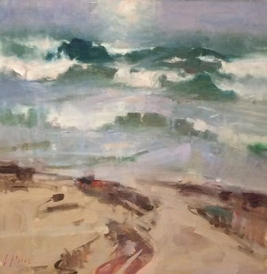Title: Breaking Waves , Size: 30x30 , Medium: Oil on Canvas , Price: $3,500