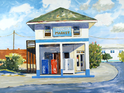 Title: Godwin's, South End, Topsail Beach , Size: 36x48 , Medium: Oil on Canvas , Price: $2,900