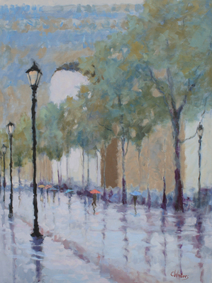 Title: Paris Reflections , Size: 40x30 , Medium: Oil on Canvas , Price: $5,500