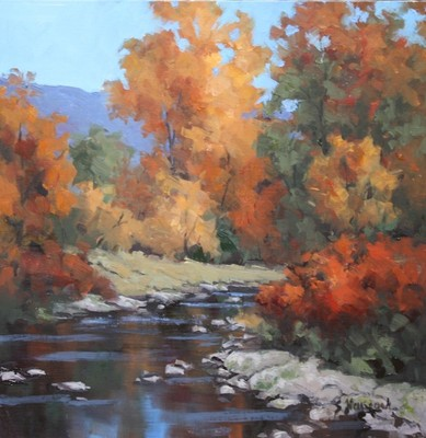 Title: Creek Reflections , Size: 12x12 , Medium: Oil on Linen , Price: $550