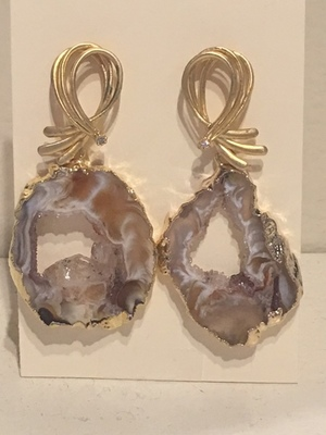 Sugarfoot Jewels - Oco Geode Earrings