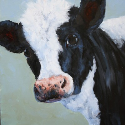 Title: I Know What You're Thinking , Size: 12x12 , Medium: Oil on Canvas , Price: $475
