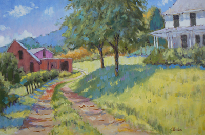 Title: Walter and Johnny Blueberry Farm , Size: 24x36 , Medium: Oil on Canvas , Price: $4,500