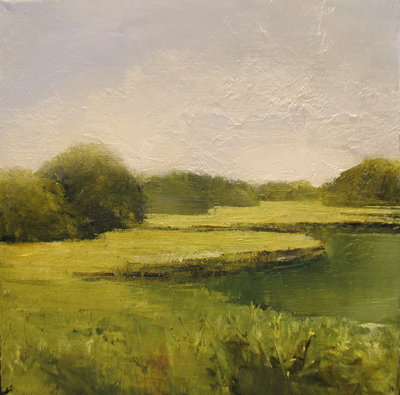 Title: Waterway #14 , Size: 12x12 , Medium: Oil on Linen , Price: $545