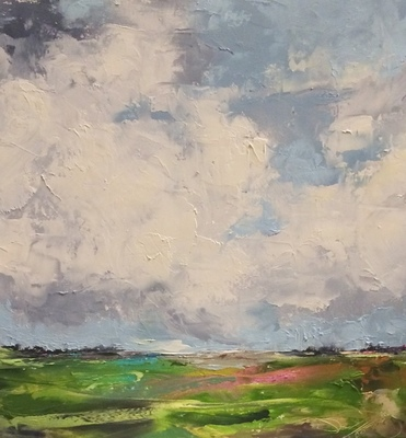 Title: Southern Sky , Size: 12x12 , Medium: Oil on Panel , Price: $800