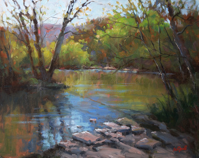 Title: Creek Bend , Size: 16x20 , Medium: Oil on Canvas , Price: $1,500
