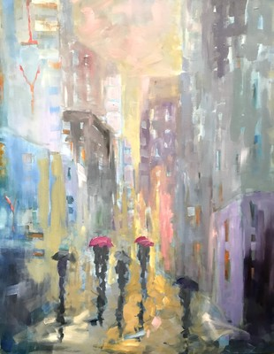 Title: City Streets , Size: 60x48 , Medium: Oil on Canvas , Price: $7,500