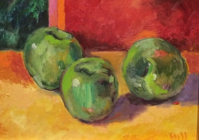 Title: Green with Envy , Size: 12x9 , Medium: Oil on Board , Price: $475