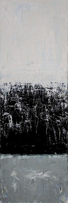 Title: Iceland #1 , Size: 36x12 , Medium: Acrylic on Canvas , Price: $1,250