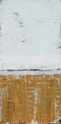 Title: Wall Study #27 , Size: 24x12 , Medium: Acrylic on Canvas , Price: $850