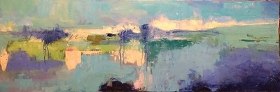Title: Thru the Inlet , Size: 20x60 , Medium: Oil on Canvas , Price: $1,400