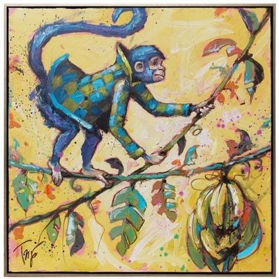 Title: Monkey Maker , Size: 24x24 , Medium: Acrylic on Canvas , Price: $2,600