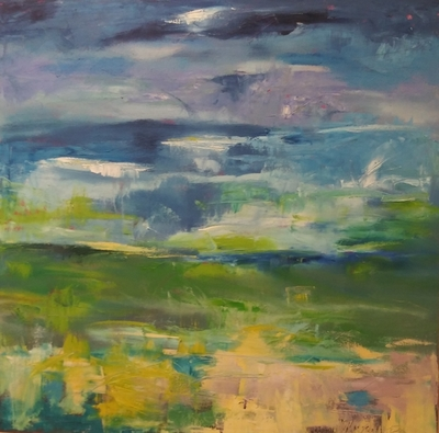 Title: Abstract Landscape XI , Size: 40x40 , Medium: Oil on Canvas , Price: $1,600